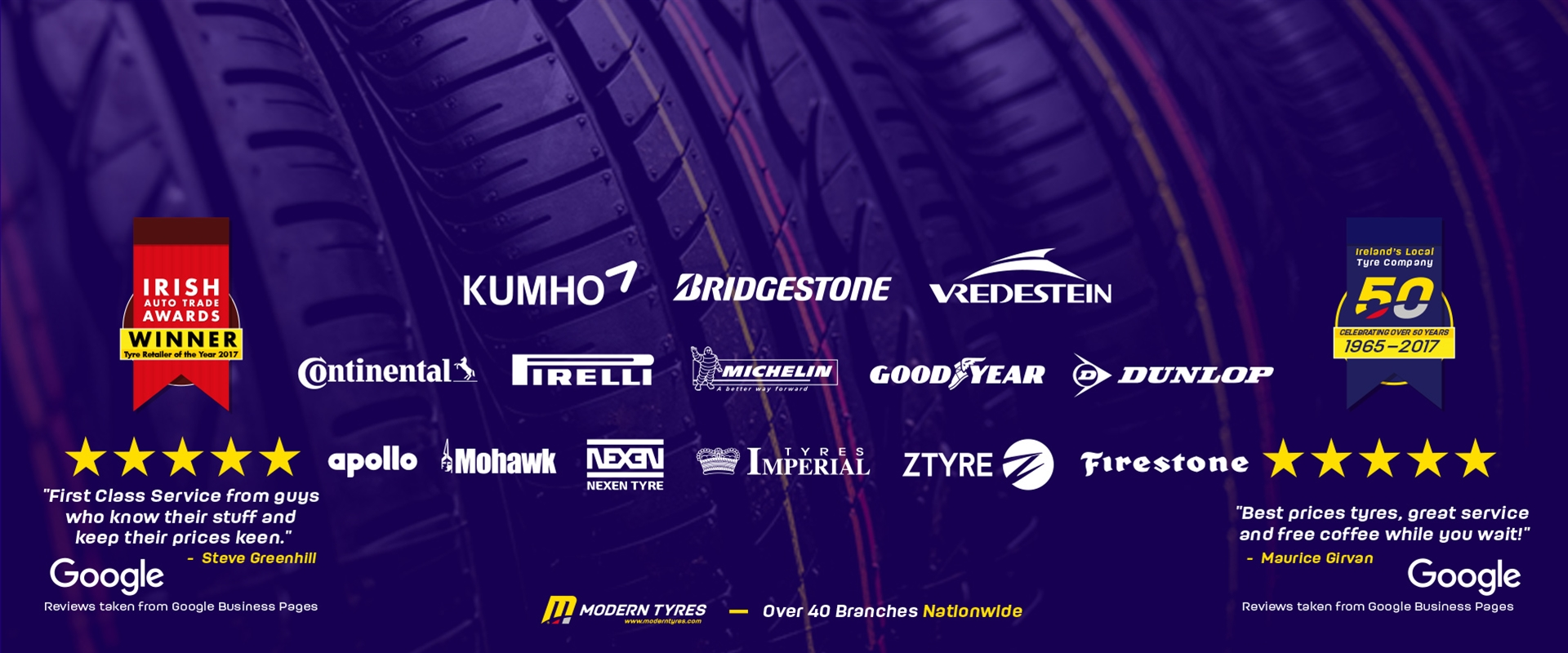 Modern Tyres | Ireland's Local Tyre Company - Buy Tyres